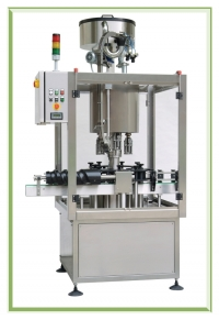 Rotary capping machines for screw or crown caps